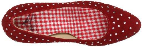 Diavolezza ELKE 9002 - Zapatos de vestir de ante para mujer Rojo (Rot (Red))