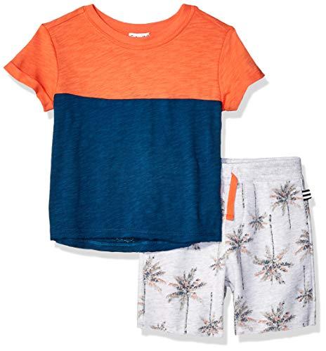 - Splendid Toddler Boys' Kids and Baby Palm print short set, Mango 2T