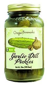 Garlic Dill Pickles, Raw, Fermented, Probiotic, Organic, 24 Oz