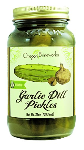 Garlic Dill Pickles, Raw, Fermented, Probiotic, Organic, 24 Oz