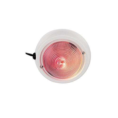 Perko 1263DP1WHT 12V Exterior Surface Mount Dome Light with Red/White (Perko Light Bulbs)