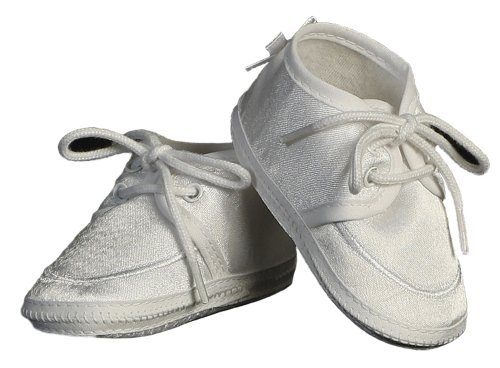 Baby Boy Satin Bootie Perfect for a Christening Baptism Blessing or any Special Occasion - Size 00 from Lito