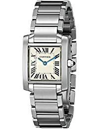 Womens W51008Q3 Tank Francaise Stainless Steel Bracelet Watch. Cartier