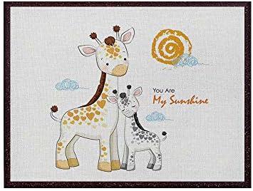 アートパネル モダン 絵画 動物 絵画 油絵 壁飾り 2匹の子鹿 インテリア 写真タヌキ動物ポスター保育園40x50cm(フレームレス)
