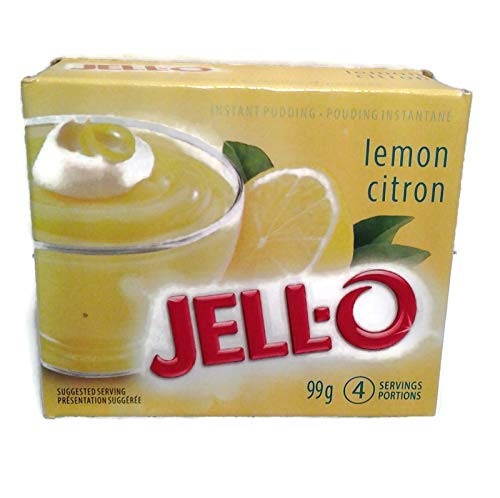 Jello Lemon Instant Pudding Mix, 99g/3.5oz, X 6 PKG.{Imported from Canada}