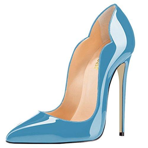 Guoar Womens Heat Girl Scarpe A Punta Tacco Alto Scarpe Taglia 5 - 12 Us Blu