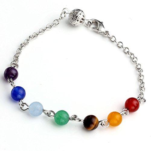 40 Mm Sword (Top Plaza Vogue 7 Chakra Healing Stones Pendant for Necklace Making, 6 Style - Yoga/Angel/Sword/Flower/Violin/Moon,2.2''-2.6'' (Bracelet))