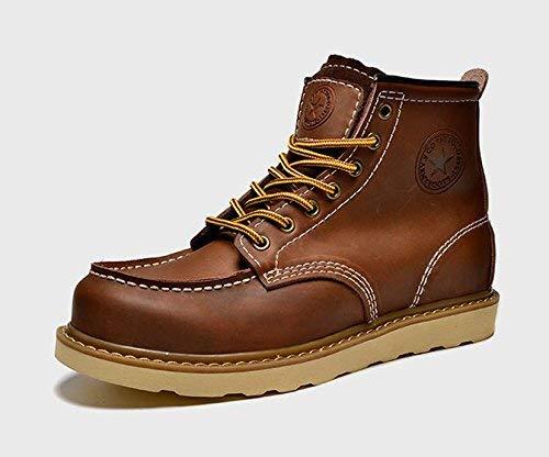 Invierno Las Fuxitoggo Cordón Tamaño Del Zapato color Desierto Hombres Algodón Forro Clásico Botas Los De 42 0AHqn0