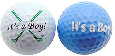 Its a Boy Novelty Golf Ball Gift Pack Set of 2 Different Balls