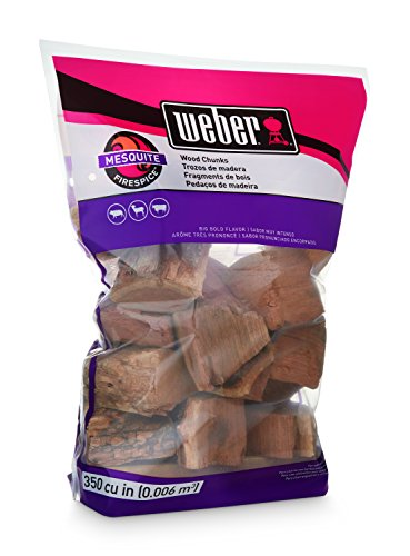 Weber-Stephen Products 17150 Mesquite Wood Chunks, 350 cu. in. (0.006 cubic meter)