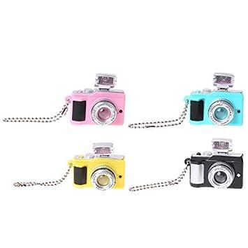 Amazon.com: LXT&YY 4 piezas de llaveros de cámara creativa ...