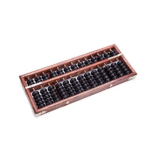 Vintage-Style 13 Digits Rods Wooden Abacus Soroban Chinese Calculator Counting Tool 11