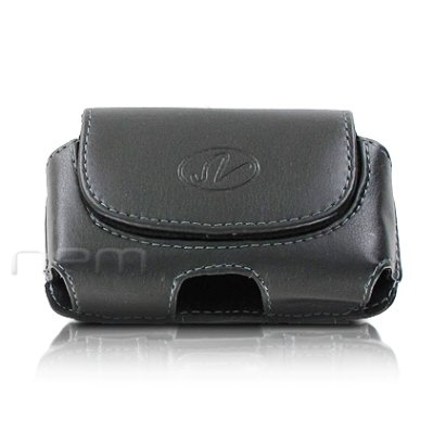 Black Horizontal Leather Cover Belt Clip Side Holster Case Pouch For Verizon LG Revere 3 / Envoy III 3