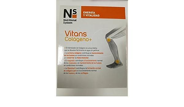 NS VITANS COLAGENO+ VAINILLA 30 SOBRES: Amazon.es: Salud y cuidado personal