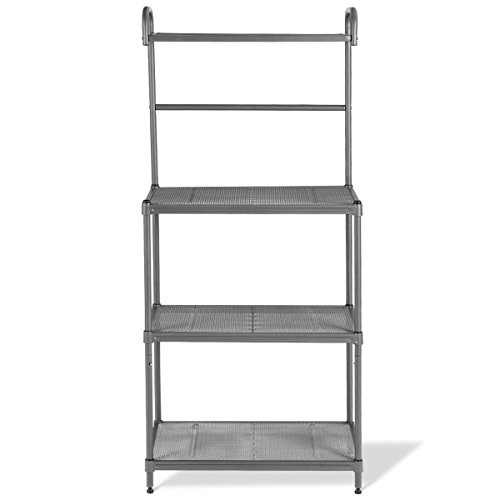COSTWAY 4 Tier Baker's Rack Microwave Oven Stand Shelves Kitchen Storage Rack Organizer+ FREE E- Book Only By eight24hours by COSTWAY