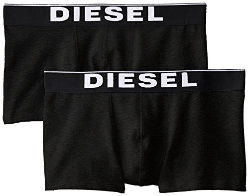 (Diesel Men's Essentials 2-Pack Kory Boxer Trunk, Black, Medium)