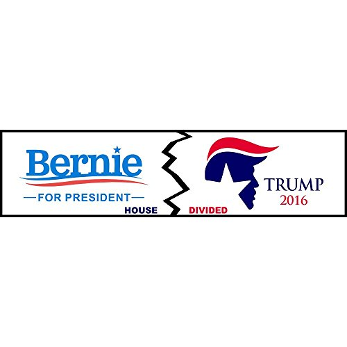 House Divided Trump/Sanders Logo Funny Decal Sticker | Political Bumper ()