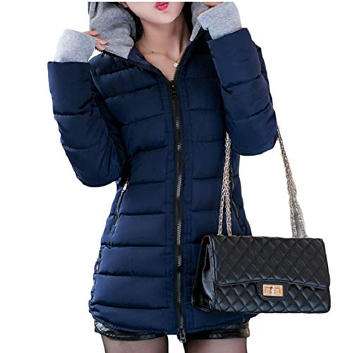 Jacket Parka Thumb Hooded Quilted Womens Winter Warm Hole 7 Down security z0wT7Rqx