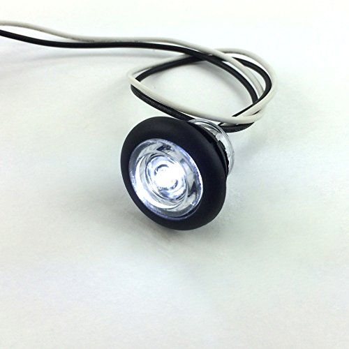 10-NEW-RecPro-34-RV-MARINE-BOAT-INTERIOR-WHITE-ROUND-LED-ACCENT-LIGHTS-IP65-RECESSED-MOUNT-12v