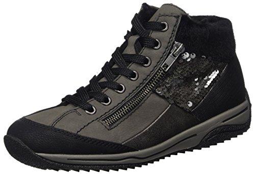 schwarz A fumo Alto schwarz Donna Rieker anthrazit Grigio Collo anthrazit graphit L5234 Sneaker 7EwxZCBq
