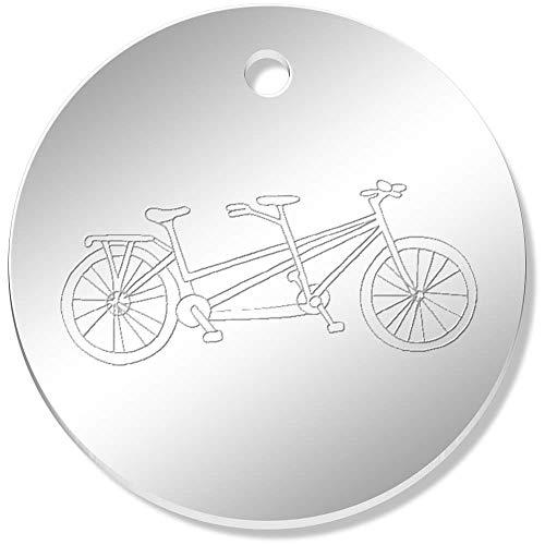 Azeeda 11 x 34mm 'Tandem Bicycle' Mirror Pendants / Charms (PN00052298)