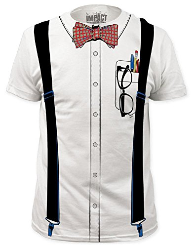 Nerd Costume Tee (slim fit) T-Shirt Size XL -