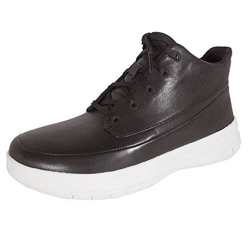 FitFlop Womens Sporty-Pop High Top Sneaker Shoes, Black, US 7