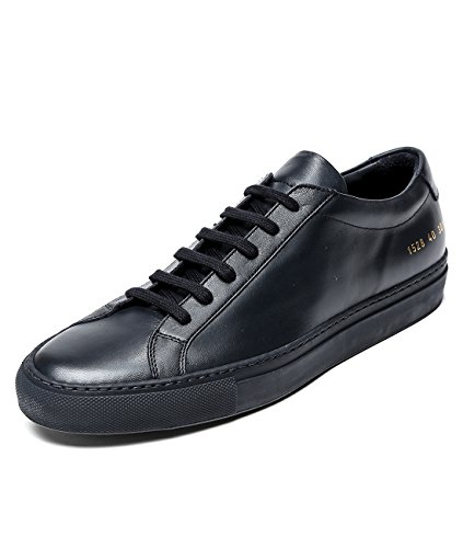 wiberlux-common-projects-original-achilles-mens-classic-real-leather-lace-up-sneakers-43-navy