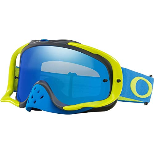 Oakley Crowbar MX Adult Off-Road Motorcycle Goggles - Blue Green/Black Ice Iridium & ()