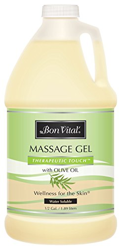 Bon Vital' Therapeutic Touch Massage Gel Made with Olive Oil to Repair Dry Skin & Soothe Sore Muscles, Contains Anti-Aging Properties to Calm Skin Inflammation & Reduce Apperance of Wrinkles, 1/2 Gal (Massage Bon Lotion Vital)