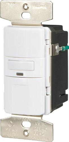 EATON OS310U-W-K Core Savant Motion Sensor Switch, 120 Vac, 60 Hz, 1000 W, Polycarbonate, White