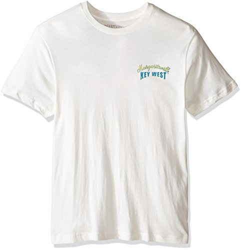 Margaritaville Men's Short Sleeve Fishin' the Keys T-Shirt, White, XX-Large