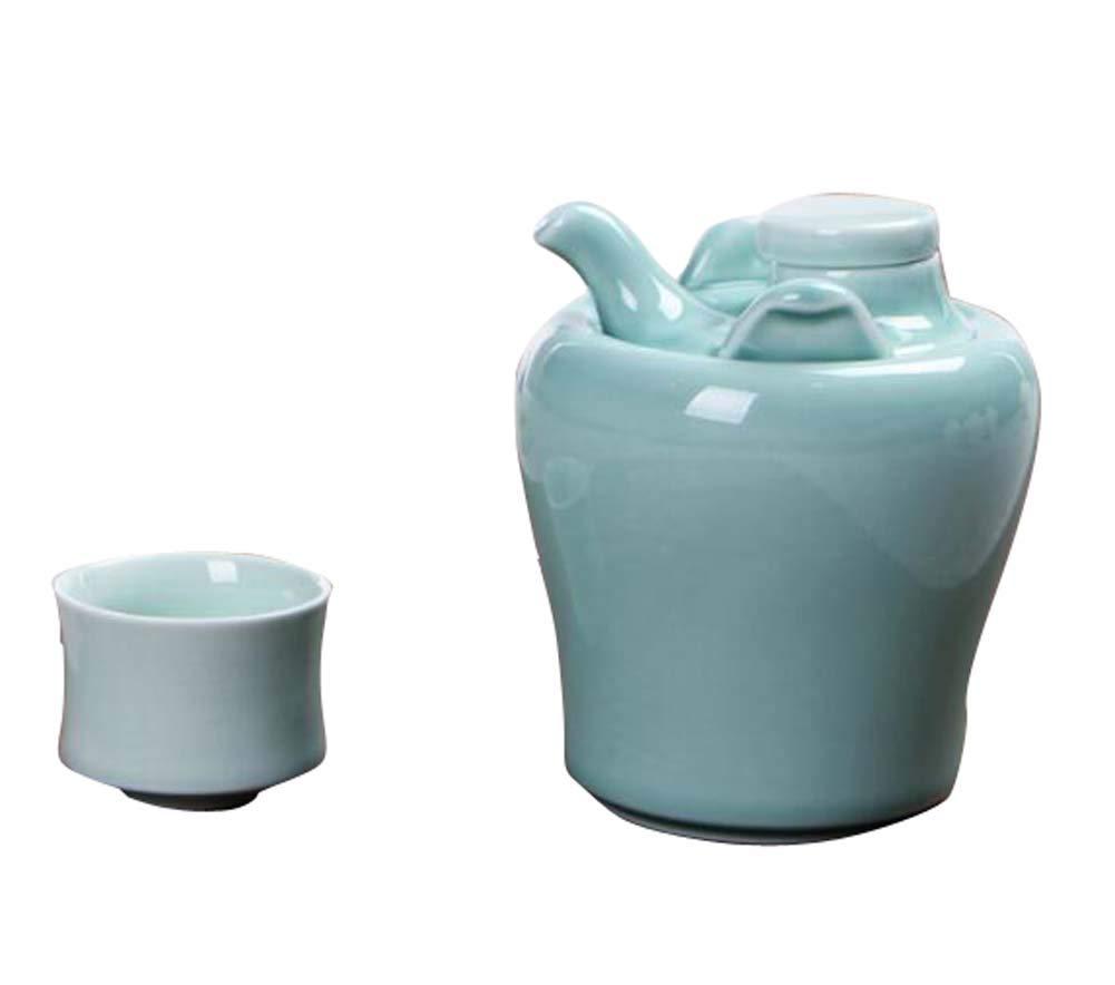 DRAGON SONIC Warm Wine Pot Set, Ceramic Sake Set, Wine Separator, E05