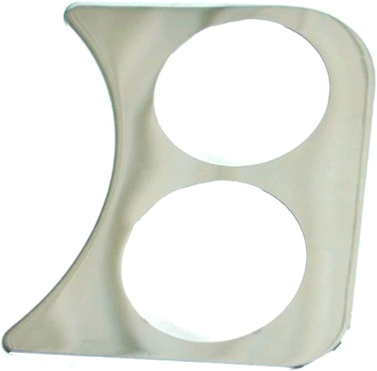 2 Hole Gauge Panel, Chrome For 2-1/16, Compatible with Dune Buggy