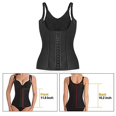 Waist Trainer for Women, Latex Waist Cinchers Sport Workout Vest Hourglass Body Shaper with Adjustable Straps