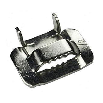 Amazon.com: ISO BU254-25 Tipo 201 Hebillas de acero ...