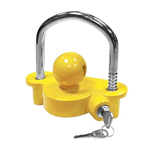 Blackpoolfa Trailer Hitch Coupler Lock by Anti-Theft Lock Trailer Accessories Adjustable & Universal Fits All - Heavy Duty Design with Iron and Aluminum Alloy Base - Easy to Install (Yellow) by Blackpoolfa (Image #3)