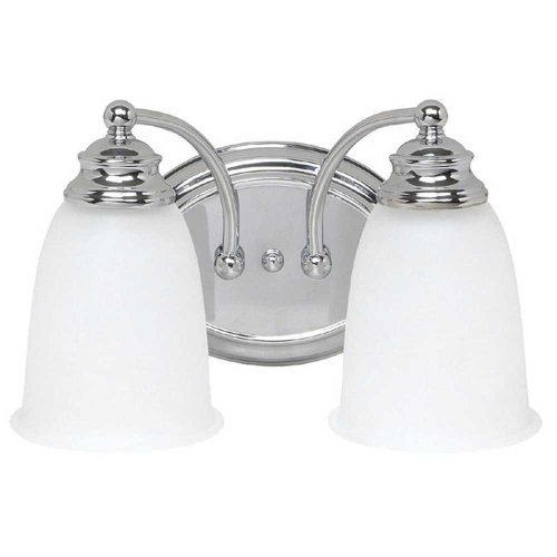 Capital Lighting 1087CH-132 Vanity with Acid Washed Glass Shades, (132 Capital Lighting)
