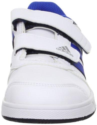 adidas Performance LK Trainer 5 CF K - Zapatillas de gimnasia de material sintético infantil blanco - Weiß (RUNNING WHITE FTW / SATELLITE / COLLEGIATE NAVY)