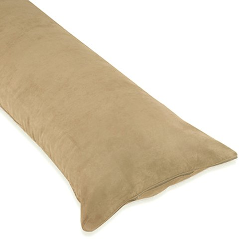 Best Price! Sweet Jojo Designs Camel Microsuede Full Length Double Zippered Body Pillow Cover