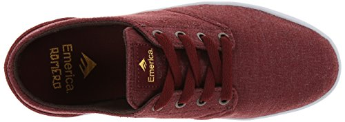 Emerica - Zapatillas de skateboarding para hombre Rojo marrón
