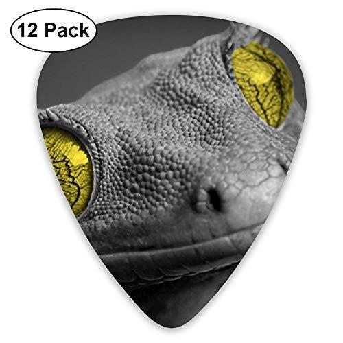 12-Pack Fashion Classic Electric Guitar Picks Plectrums Lizard Face Instrument Standard Bass Guitarist