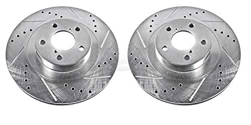 Power Stop JBR957XPR Front Evolution Drilled & Slotted Rotor - Turbo Drilled Front Rotors