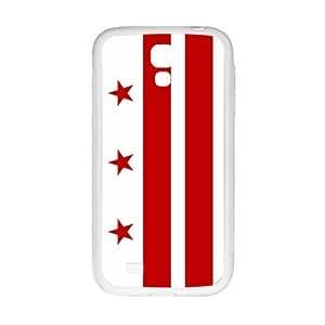 Special Washington D.C. Washington WA City State Flag Pattern SamSung Galaxy S4 I9500 TPU(Laser Technology) Durable Back Case Shell - For SamSung Galaxy S4 I9500