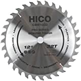 """HICO 12"""" 32-Tooth ATB Thin Kerf General Purpose Saw Blade with 1-Inch Arbor"""