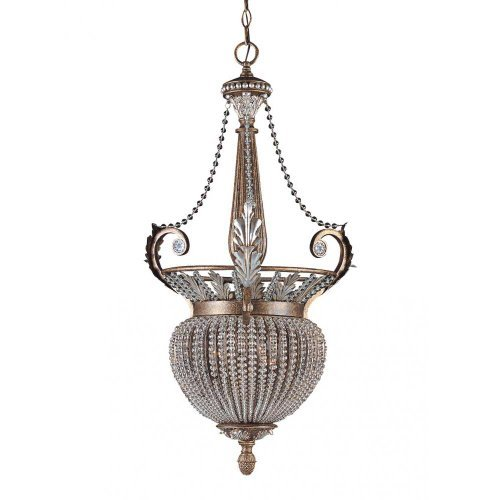 Crystorama Lighting 6724-WP Pendant with - Weathered Patina Crystal Beads Shopping Results