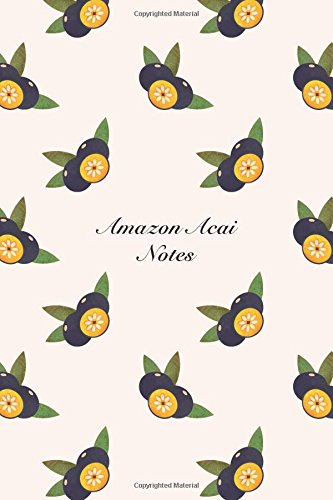 """Download Amazon Acai Notes: 6""""x9"""" Notebook Watercolor Texture Design Fruit Pattern Cover. 108 Blank Lined Pages Matte Softcover Note Book Journal pdf"""