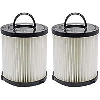 EZ SPARES 2Pcs Eureka DCF-21 (DCF21) Premium Washable Reuseable Allergen Hepa Filter Compare to Eureka Part Nos. 67821, 68931, EF91 Fits Eureka/Sanitaire AirSpeed Bagless Vacuums