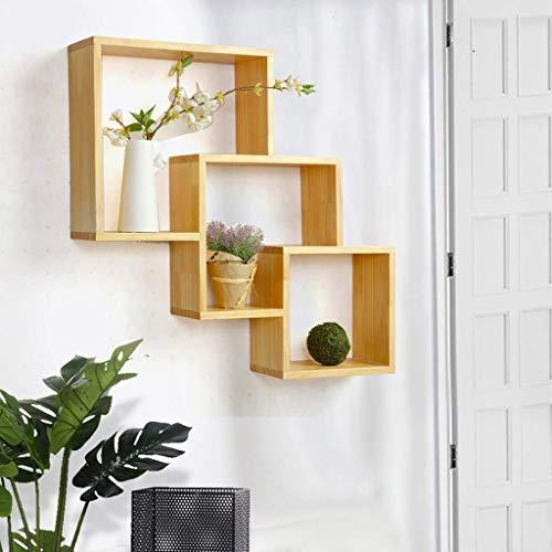 Single Tier Modern Locker - Home Wooden Wall Frame/Ledge / TV Wall Decoration Bedroom Wall Hanging Bookshelf/Simple Wall Cabinet Wall Locker Display Inventory