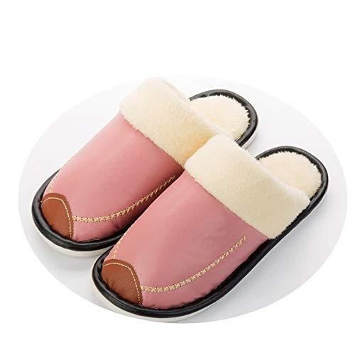 Femmes À De En Chaud Confort Hommes Décontracté Coton Rose Et Hiver Anti Maison Chaussures Imperméable Jzx Nouveaux Peluche Mignon dérapant L'eau Couple Pantoufles AE88US